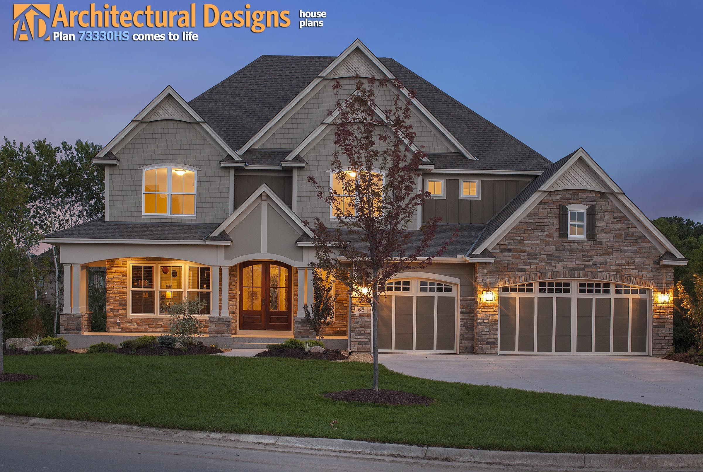 Exclusive House Plan 73330HS view of