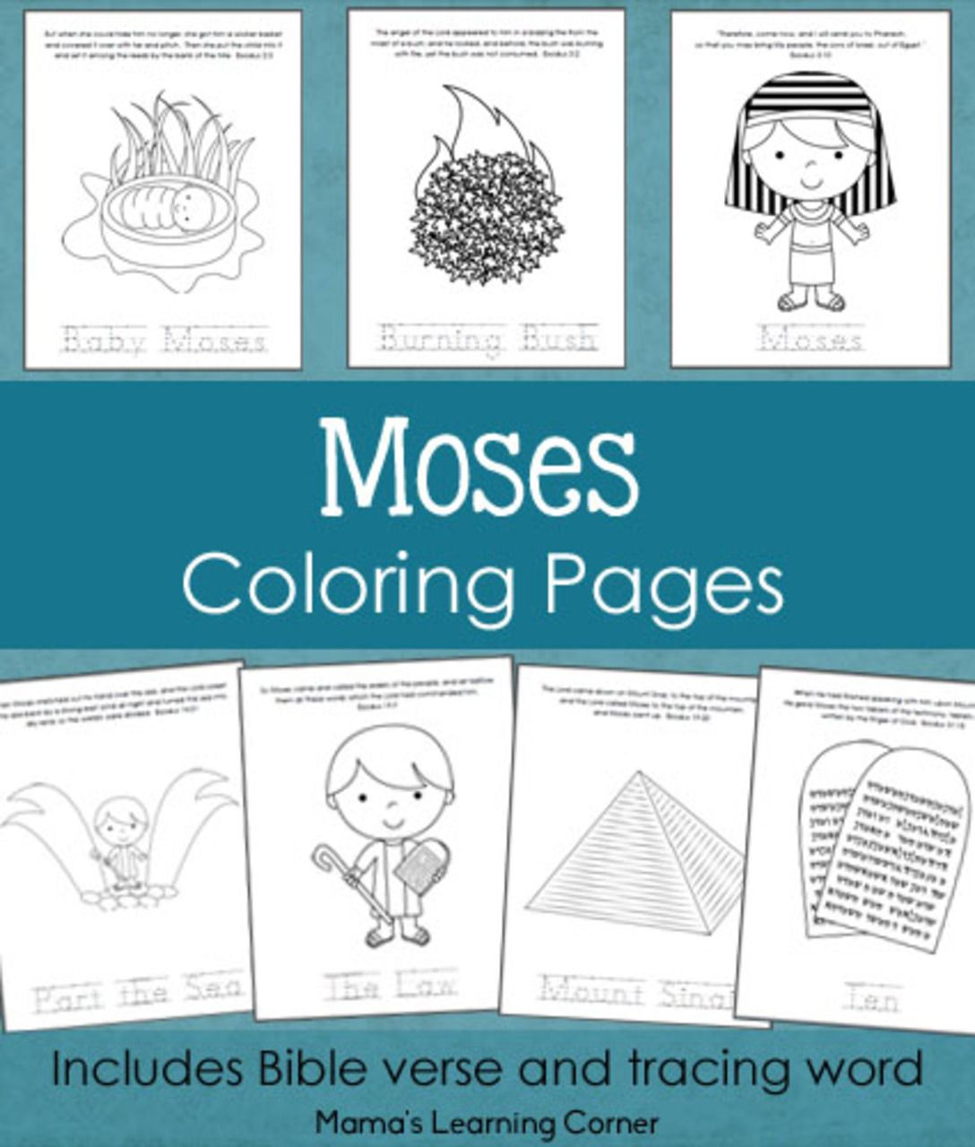 Moses Coloring Pages From Mama S Learning Corner