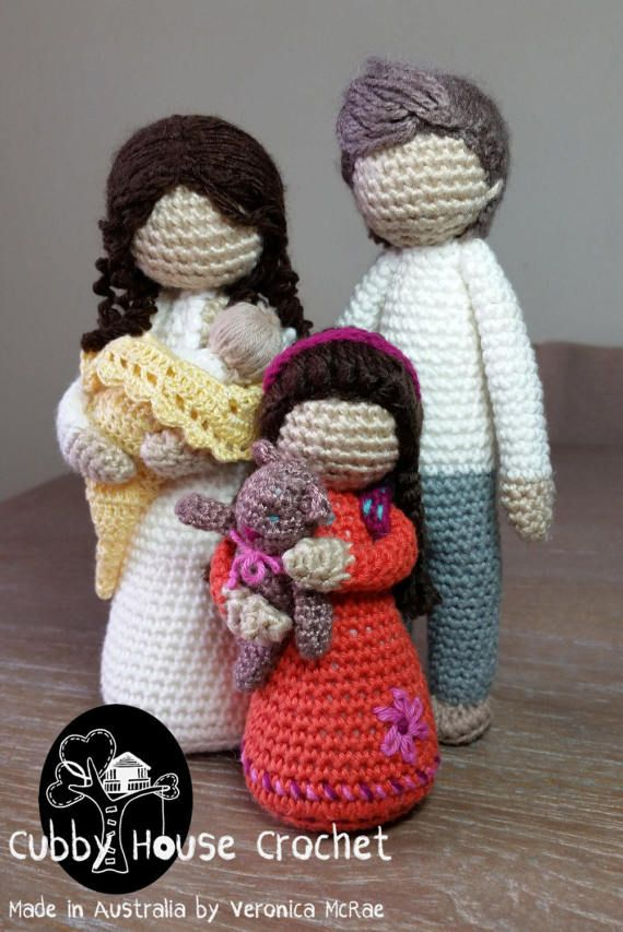 Pattern Package Deal 3 patterns: Mother EVE with newborn | crochet ...
