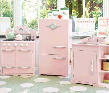 Retro Pink Kitchen From Pottery Barn I Got This Same Set In