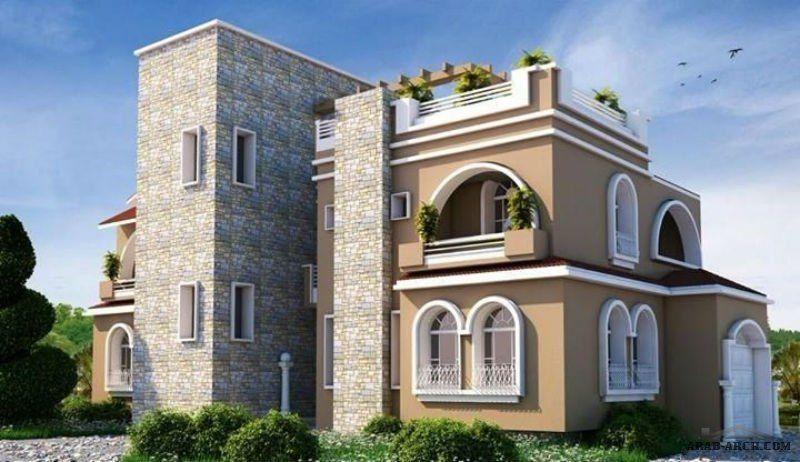 مناظير خارجيه وتصميم واجهه فيلا Modern House Design House Elevation Architecture