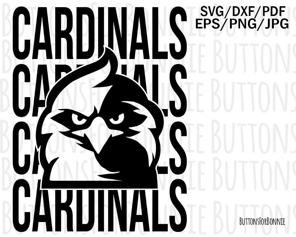 Cut File Team svg Football svg Cardinals svg Download Cardinals Team svg png Cardinals Mascot svg dxf Printable Silhouette Cricut