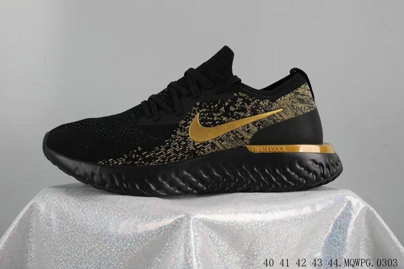 brand new 22ed0 45005 ... armory blå work f50e18 401da 96e11  coupon code for official nike epic  react flyknit sneakers coal sort guld guld sort lebron abb87c