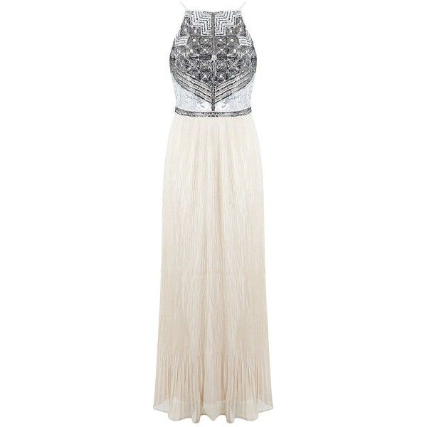 Miss Selfridge Sequin-Bodice and Plisse Gown ($145) ❤ liked on ...