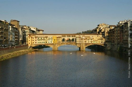 The heart of Tuscany and Italian Renaissance: Florence. The middleage Ponte Vecchio over the Arno River. #florence #firenze #pontevecchio #arno #fiume #italy #river #renaissance #italia #bridge #middleage #medieval http://goo.gl/s5TQb