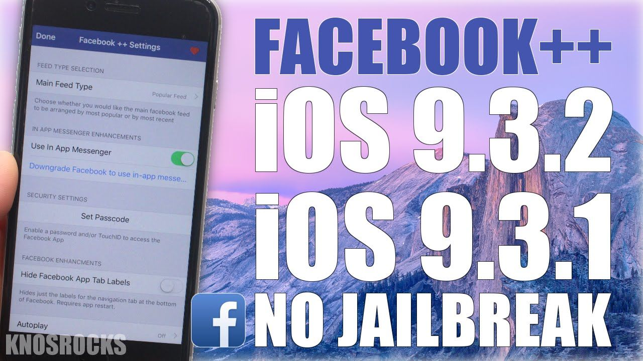 How To Install Hacked Facebook++ iOS 9 - 9 3 2 Without (No