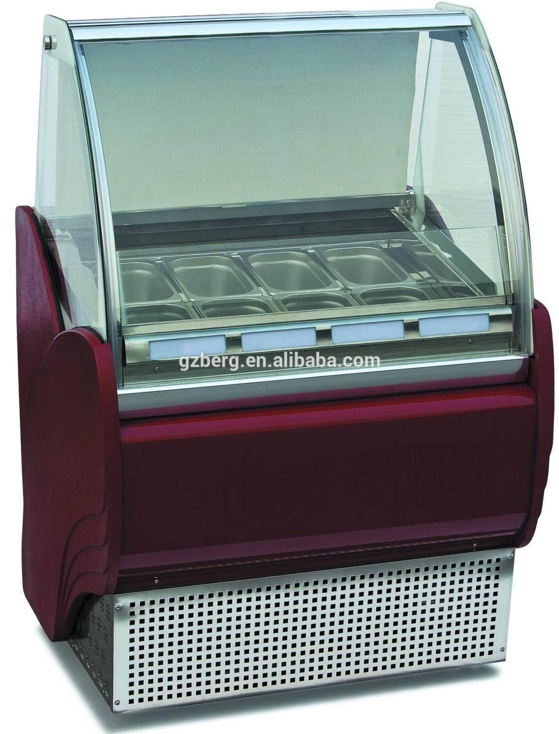 8 Trays Italian Gelato Display Freezer With Danfoss Compressor Buy Gelato Display Freezer Ice Cream Showcase Freezer I Display Cabinet Display Custom Screens