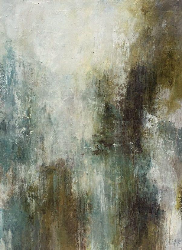 """Melissa Payne Baker, """"Charming from Huff Harrington,"""" mixed media on canvas, 48 x 36"""