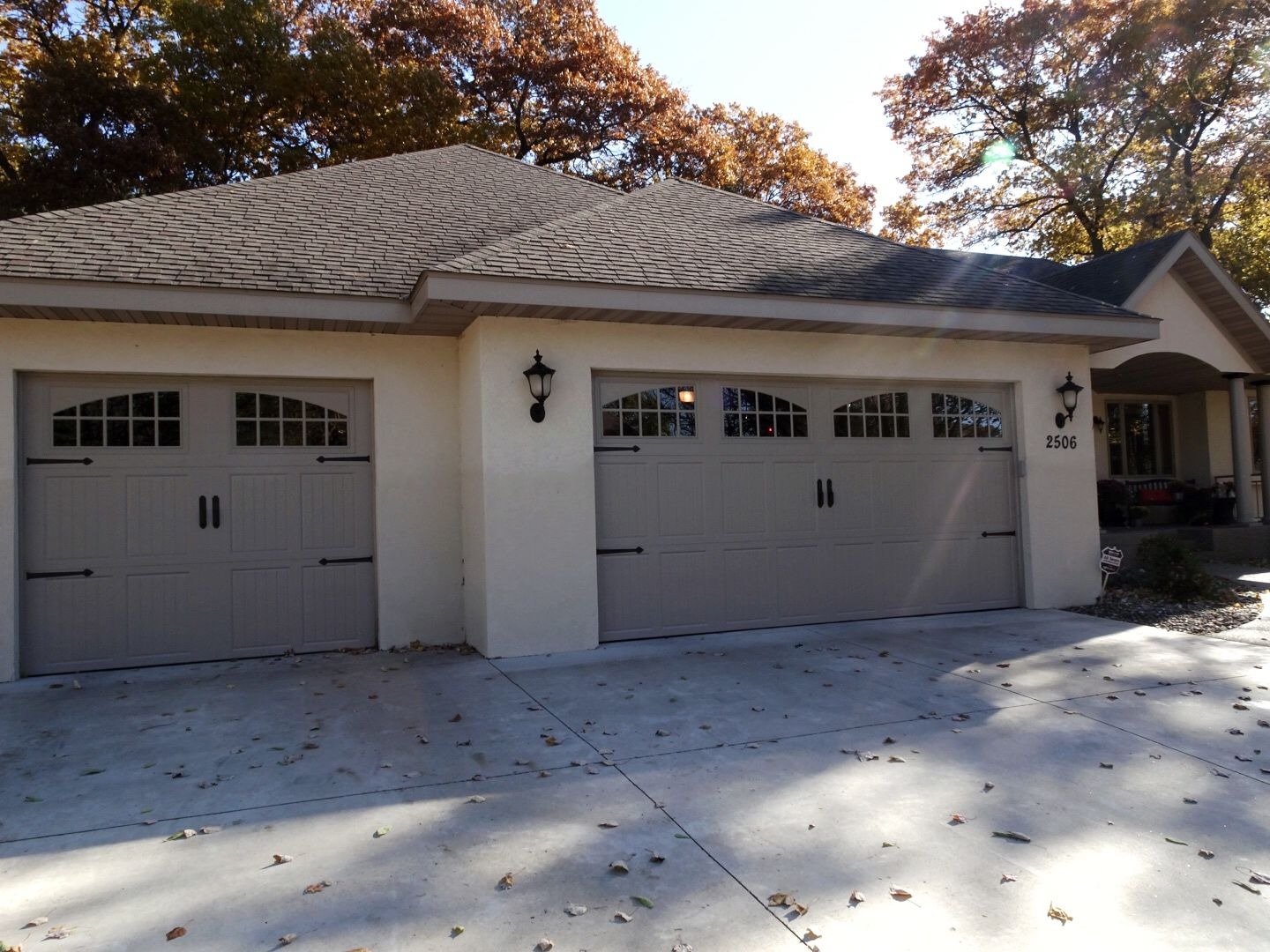 Amarr Classica Garage Door In Sandtone With Tuscany Panels And