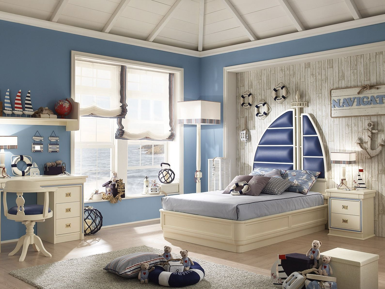Download The Catalogue And Request Prices Of Navigator Storage Bed By Caroti Full Si Detskaya V Morskom Stile Detskaya Komnata V Morskom Stile Golubye Komnaty