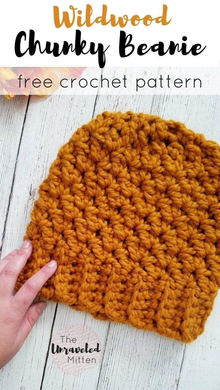 Wildwood Chunky Crochet Beanie   Nena, Tutoriales y Tejido