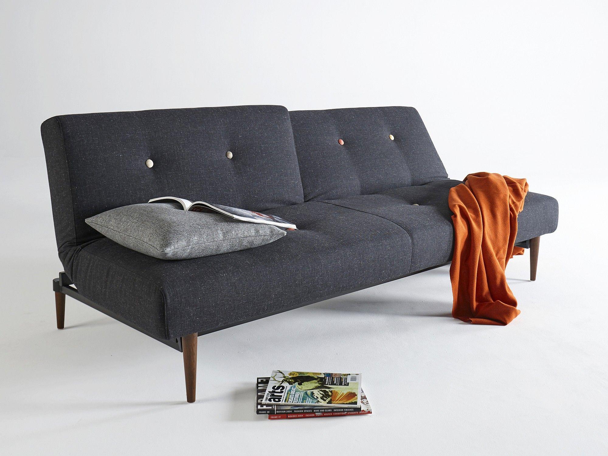 Innovation Klappsofa Fiftynine Beige Schwarz home