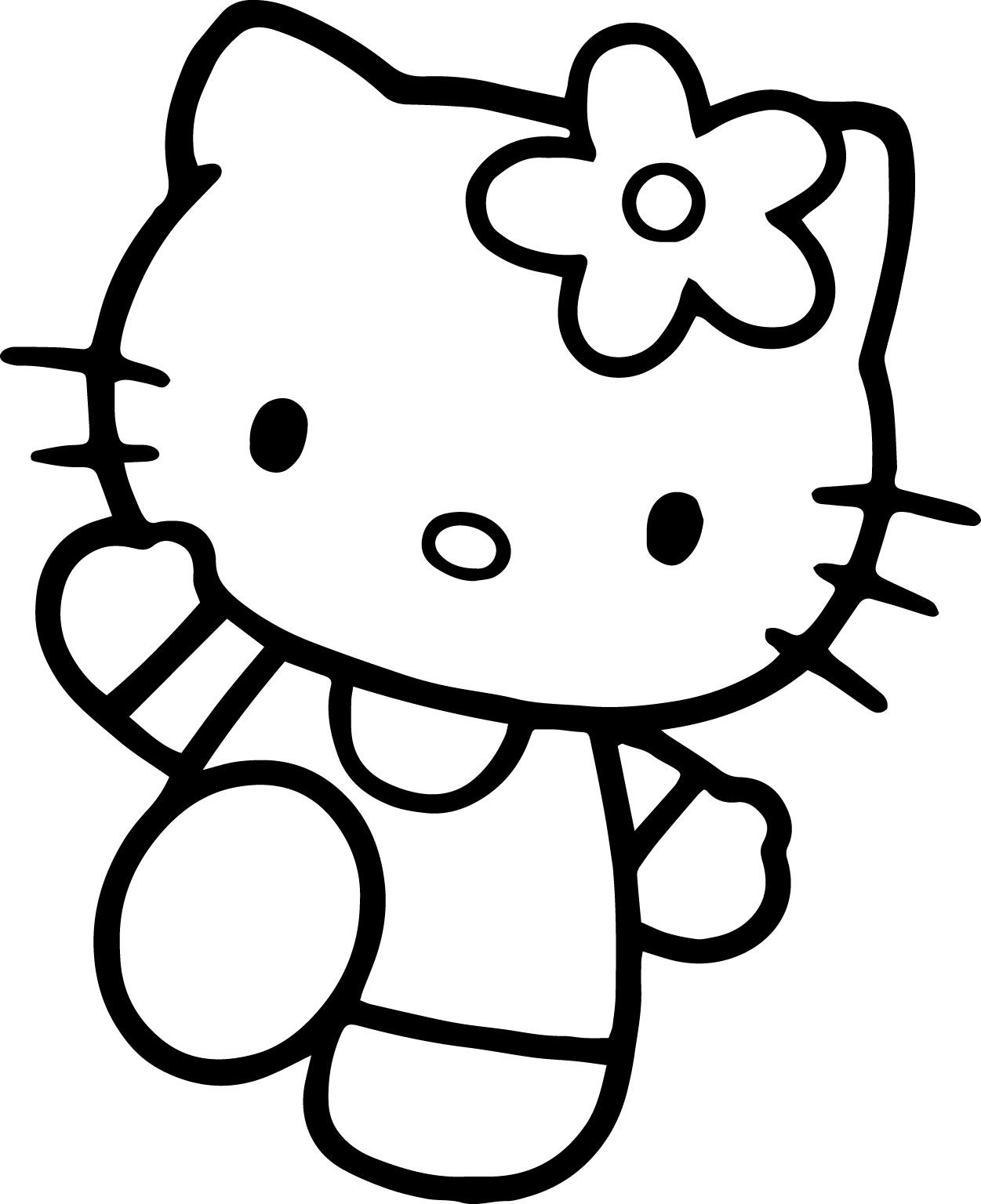 Hello Kitty Coloring Pages | Pinterest