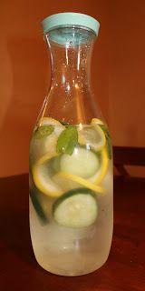 Lemon & cucumber water