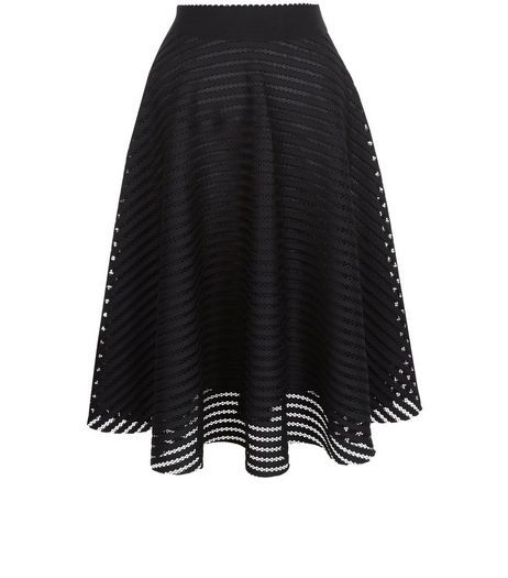 f6589e1d26 Black Mesh Stripe Midi Skirt | New Look Yes its from New Look,Yes its