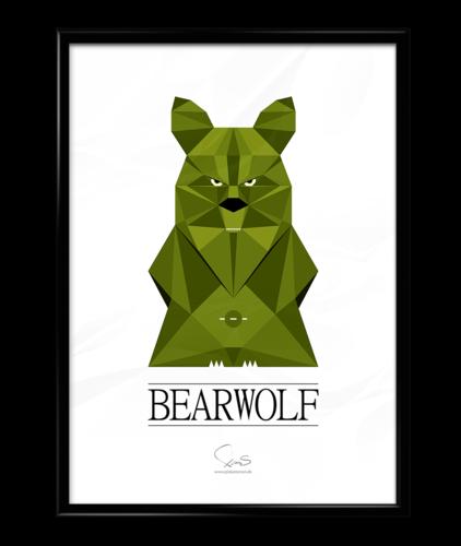 BEARWOLF ( A2 42x59,40 Cm ) grøn