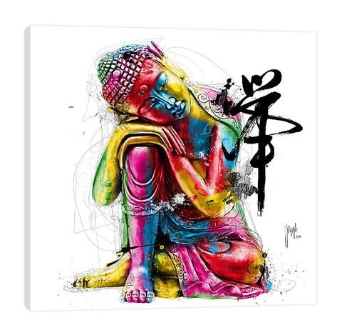 """Buddha #buddhadecor Fine Art giclee canvas print professionally hand-stretched; wrapped over sustainable 1.5"""" deep FSC Certified Pine wood Premium eco-solvent inks with UV protection Arrives ready to hang with all hardware included 100% Made in USA #buddhadecor"""