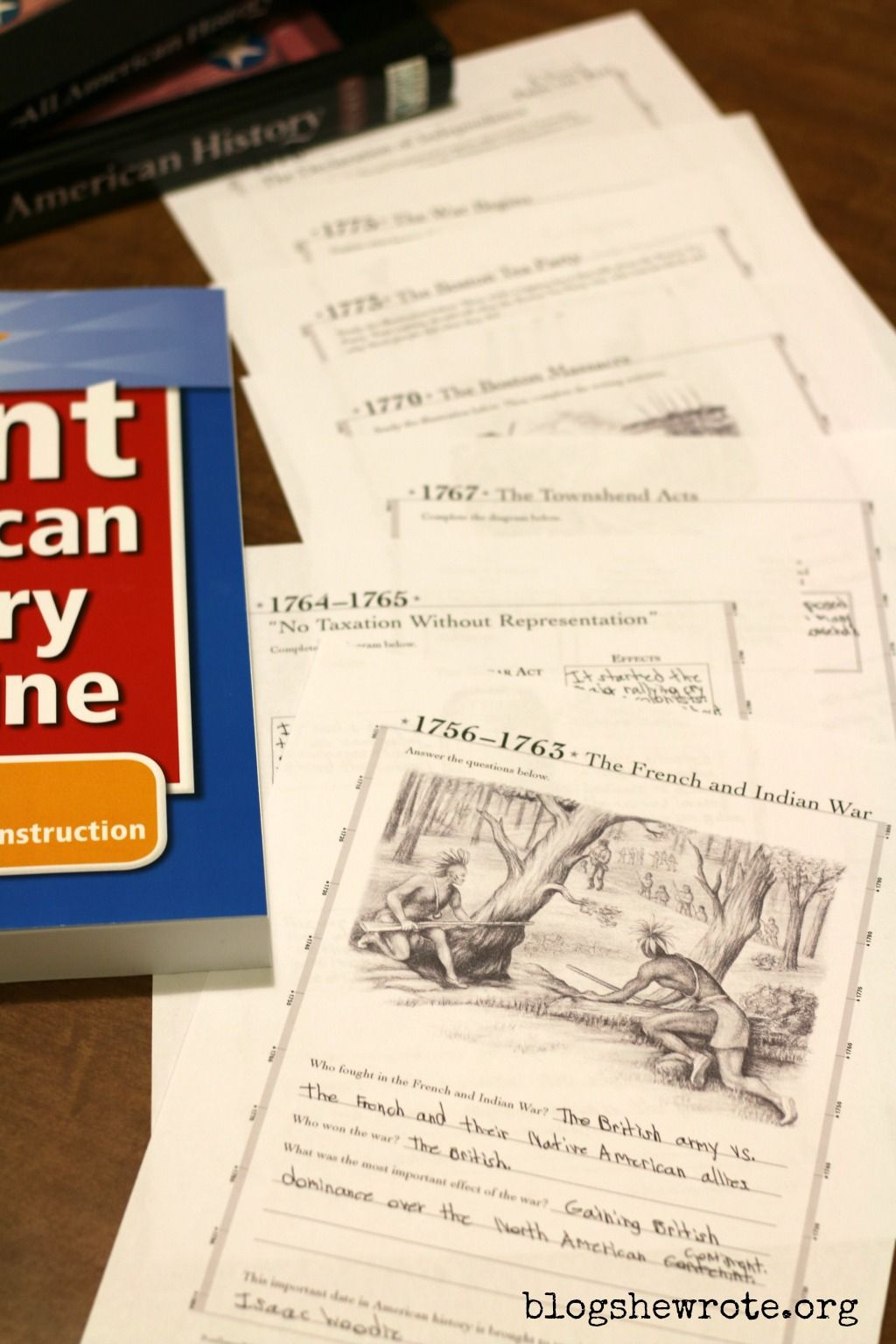 American History Timeline Resource For High School