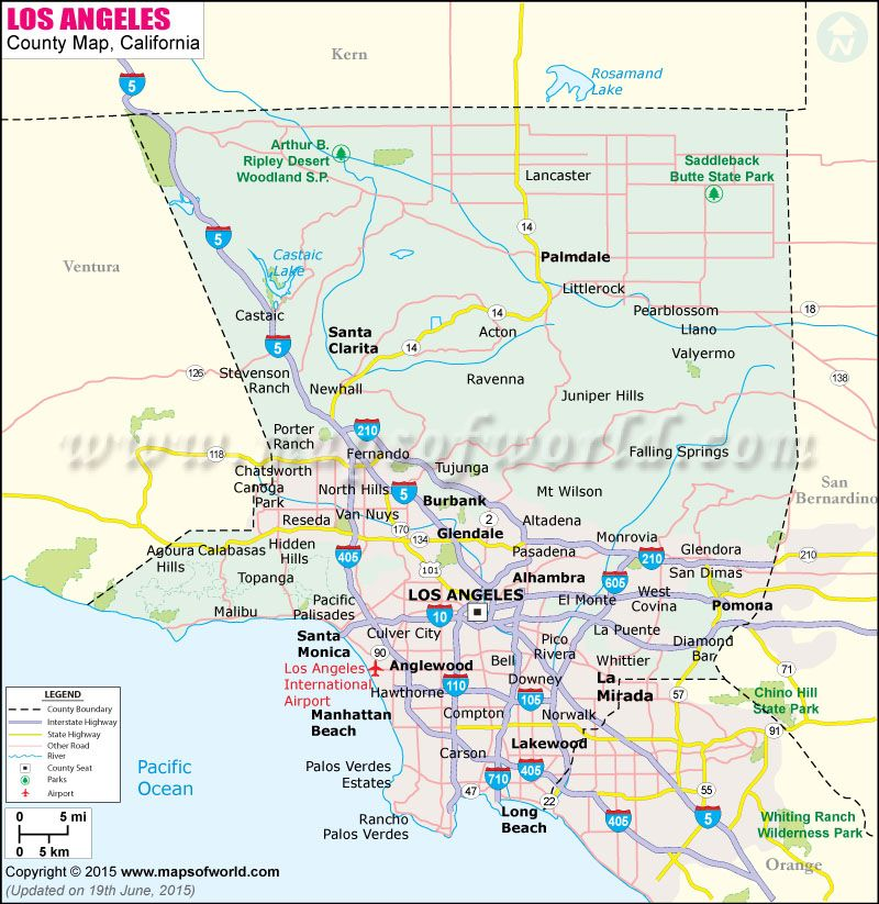 Los Angeles county map Maps Pinterest Los angeles county, Los - new google world map printable