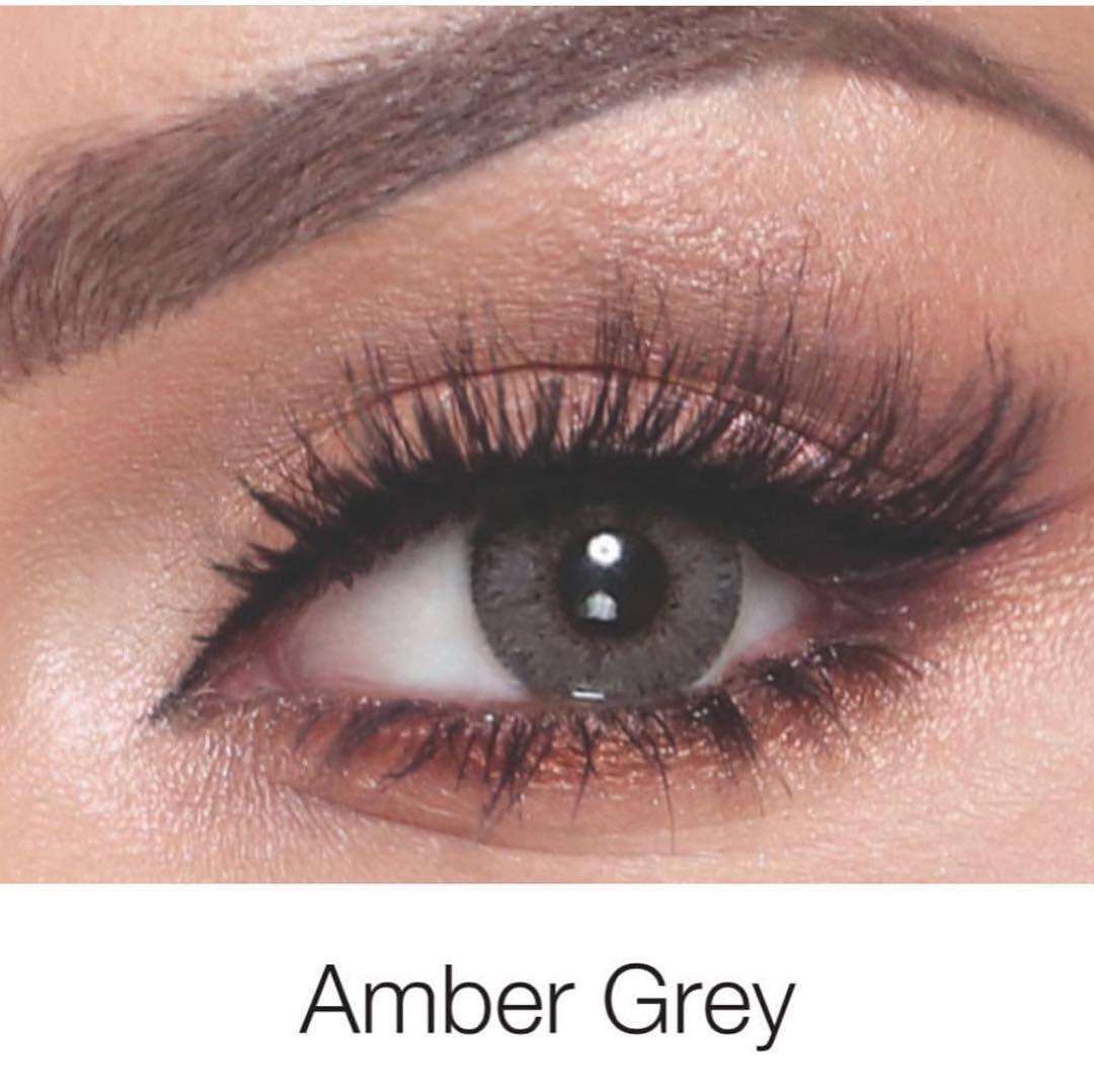 عدسات اليت نادين نجيم Amber Gray Eye Lens Colour Contact Lenses Colored Color Lenses