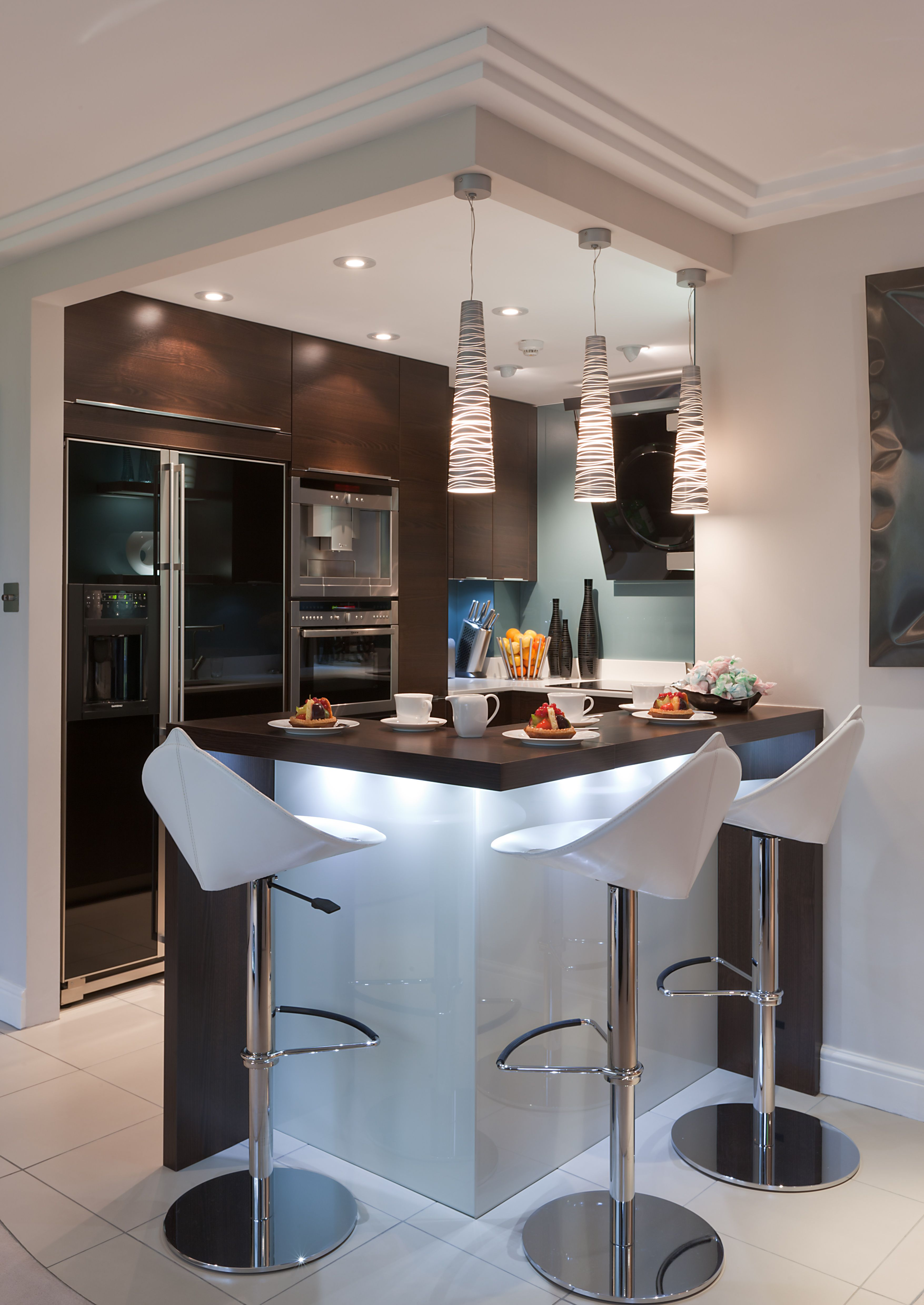 Good A Compact Kitchen With Clever Space For Stools At The Counter
