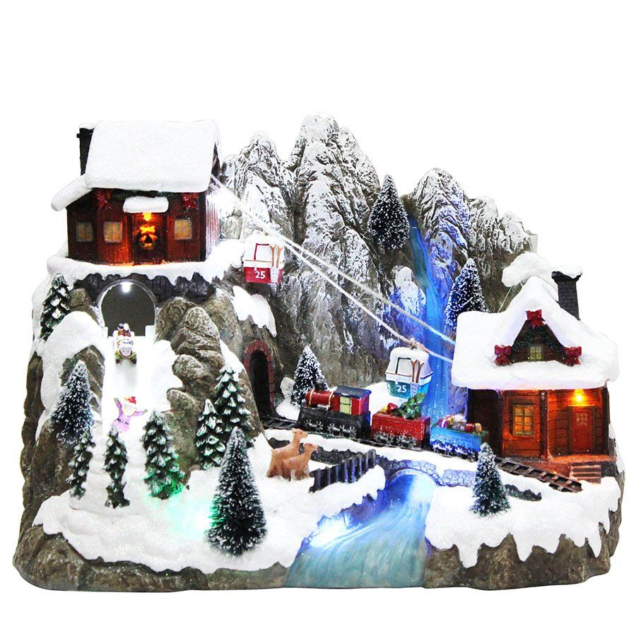shop holiday living musical animatronic led gondola scene christmas collectible at lowes canada find our selection of indoor christmas decorations at the - Animatronic Christmas Decorations