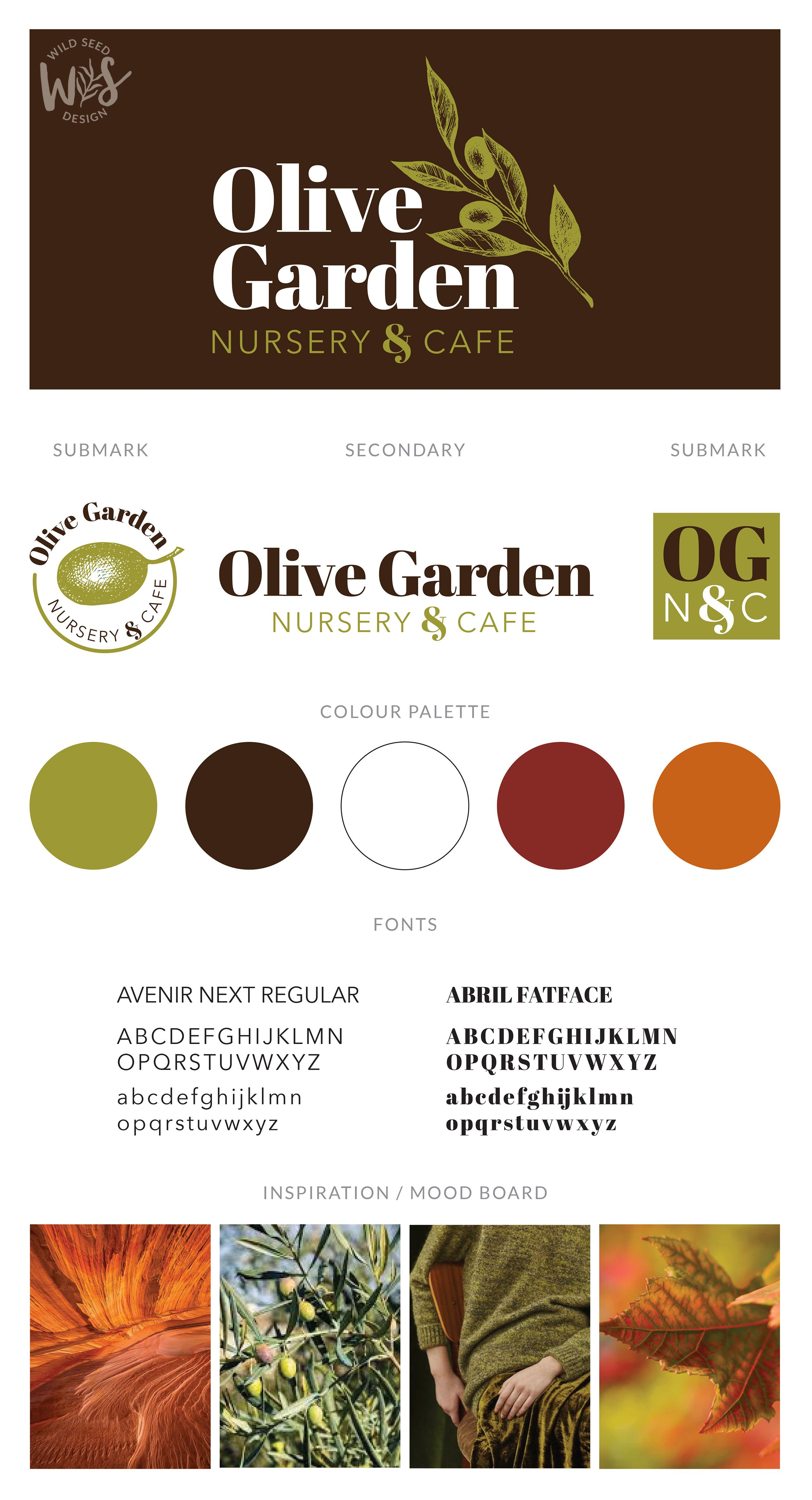 Wild Seed Design Olive Garden Nursery and Cafe - Logo and ...