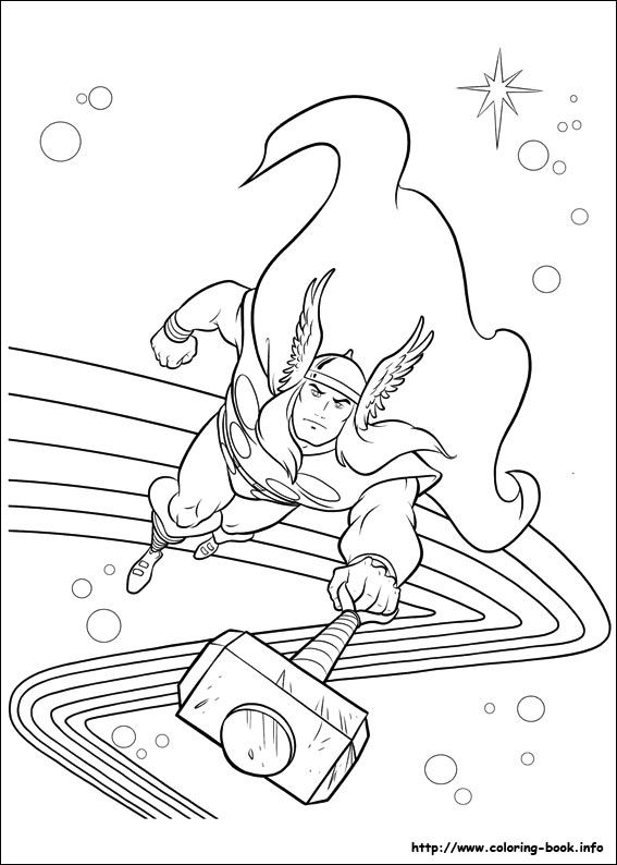 Thor coloring pages | Lego kids | Pinterest | Ausmalbilder und ...