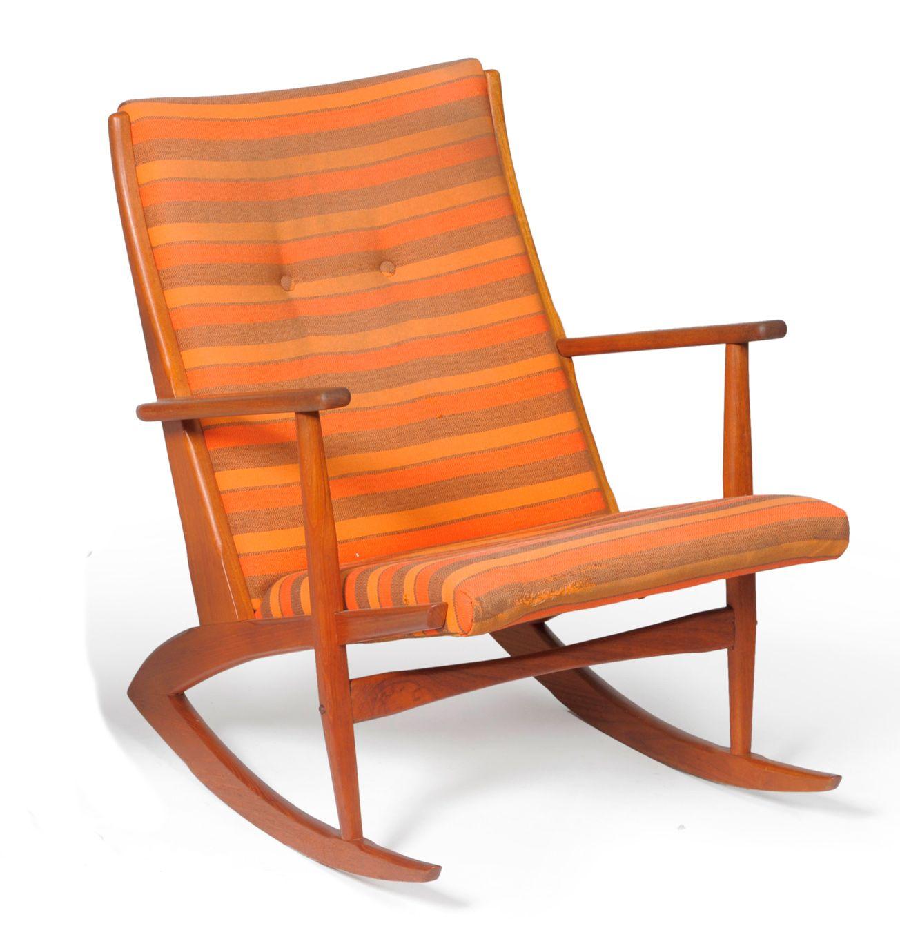 Amazing Kubus Teak Rocking Chair By Soren Georg Jensen Unemploymentrelief Wooden Chair Designs For Living Room Unemploymentrelieforg