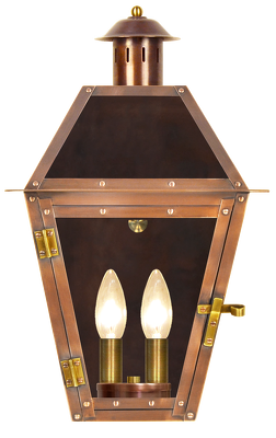 French Colony Flush Electric Copper Lantern Copper Lighting French Lighting