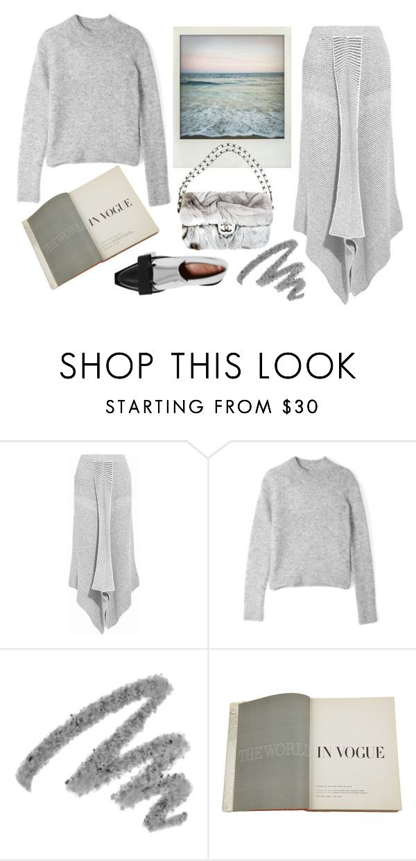 """""""Color of Fashion: Sharkskin"""" by harperleo ❤ liked on Polyvore featuring STELLA McCARTNEY, Polaroid, Acne Studios, Yves Saint Laurent, Assouline Publishing and Marni"""