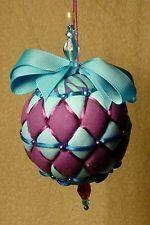 "Kimekomi  Ball     10 ""    Purple & 'Aqua Christmas Ball"""