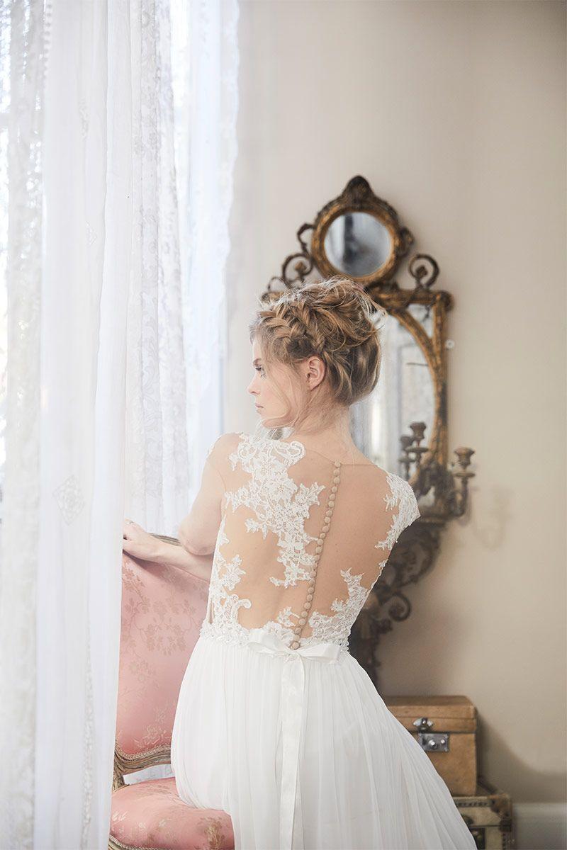 Flowy wedding dress with sleeves  Poem   Charlotte Balbier  Charlotte Balbier  Bohemian Blush