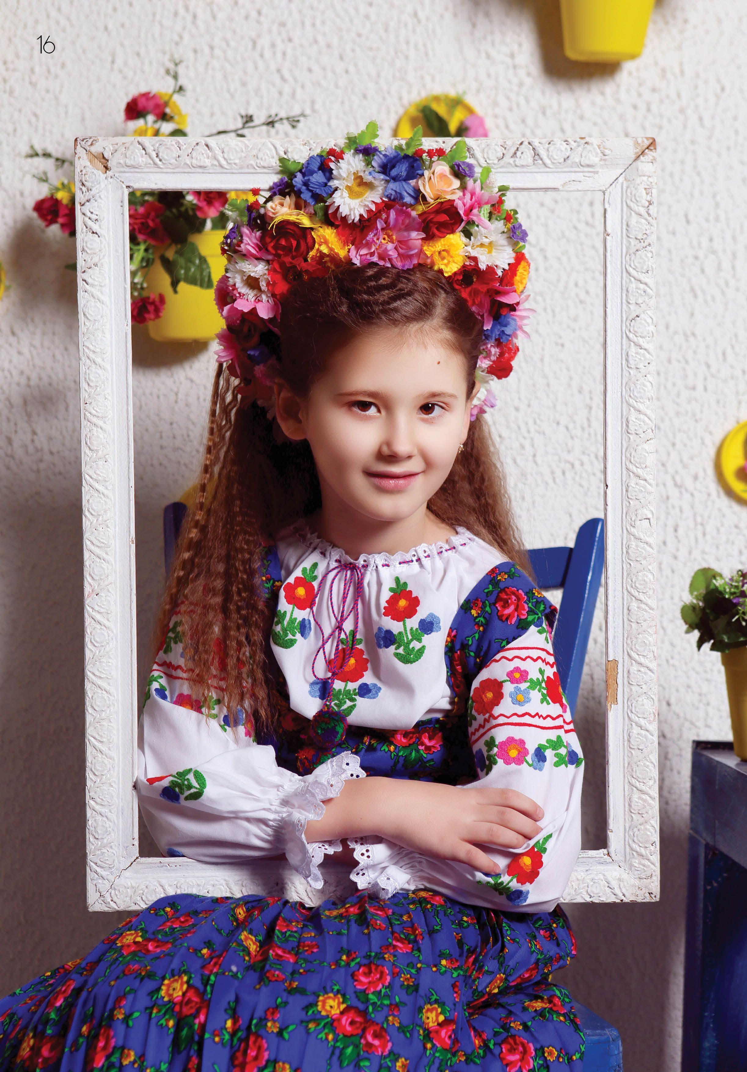 Дитяча вишиванка для дівчинки. Схема вишитої сорочки в журналі