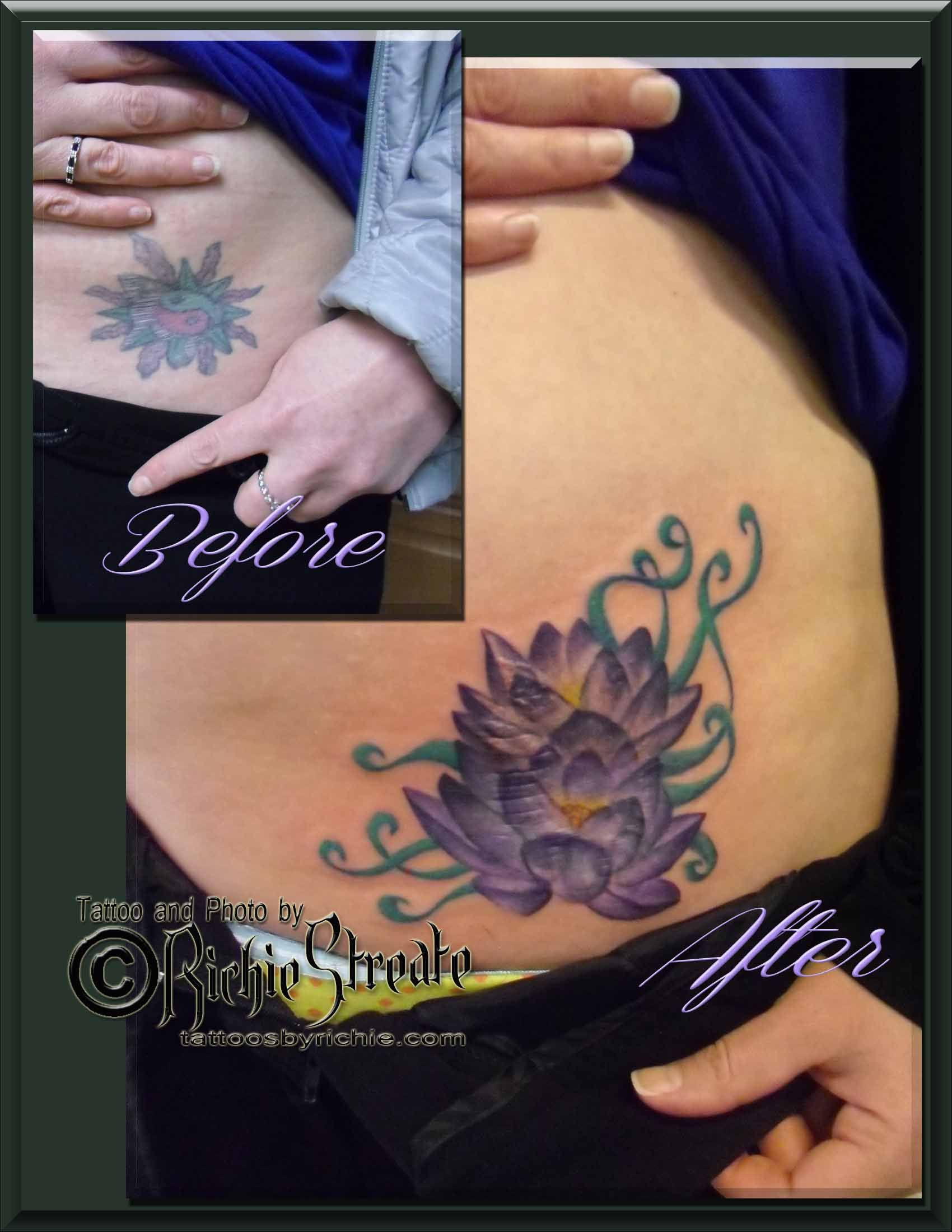 Lotus Flower Cover Up Tattoo Cover Up Tattoos By Richie Streate