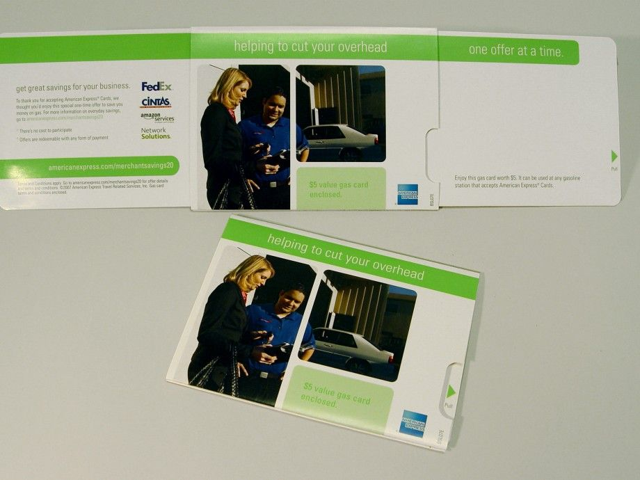 American Express Gas Card Mailer | Structural Graphics | Direct Mail ...