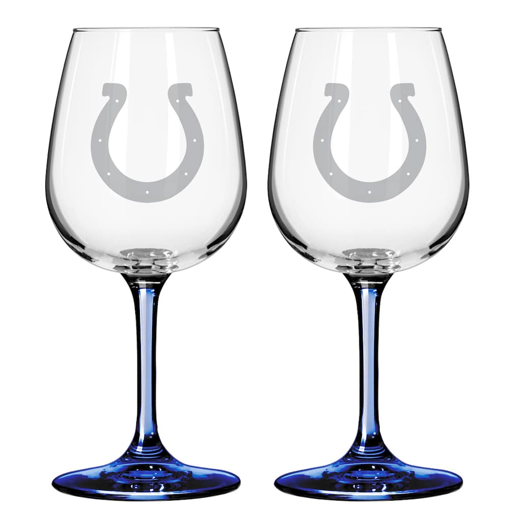 Indianapolis Colts 2 Pc Wine Glass Set 12 Oz Products In