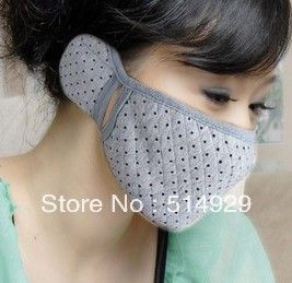 Medical Mask and Ear-loop Respirator Face Surgical Against flu/ cheap gas masks ear respirator freeshipping(China (Mainland))