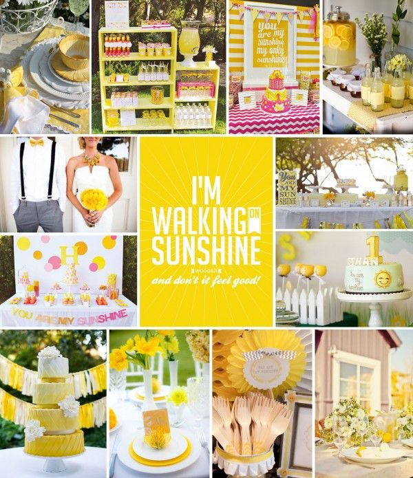 Pretty Party Walking On Sunshine Intertwined Events Pretty Party Party Party Theme