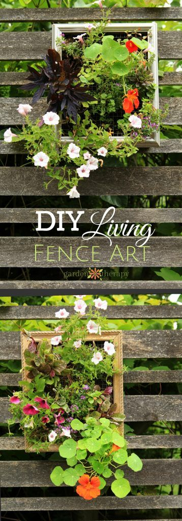 These Colorful Vertical Planters Will Add Beauty to Your Fence is part of Vertical garden Fence - Vertical gardening like this is not only a smart way to get some extra plants to your garden, but it can turn an old fence into a gallery wall