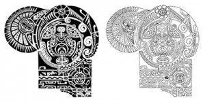 the rock s tattoo template google search stencils pinterest