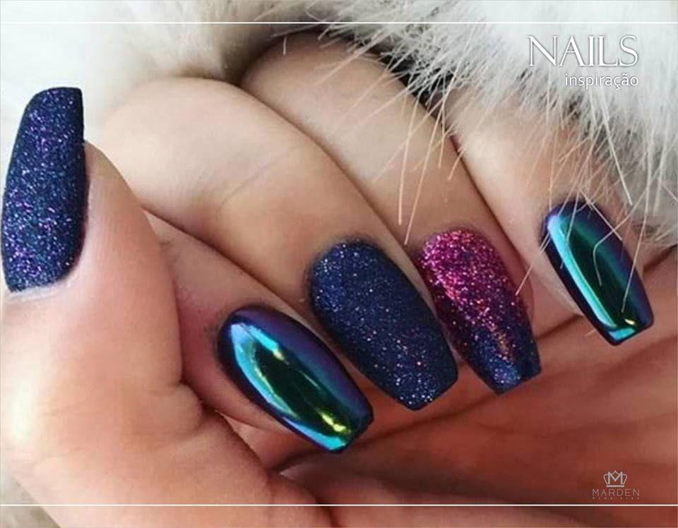 Nail art - metálico. Esmalte holográfico - glitter | Unhas da Semana ...