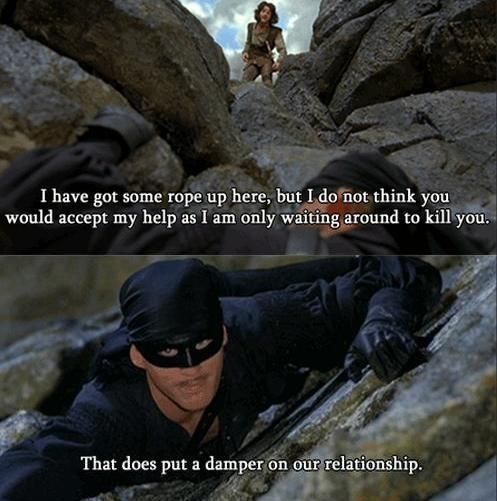 Pin By Jenny Cartwright On Quotes Princess Bride Humor Funny