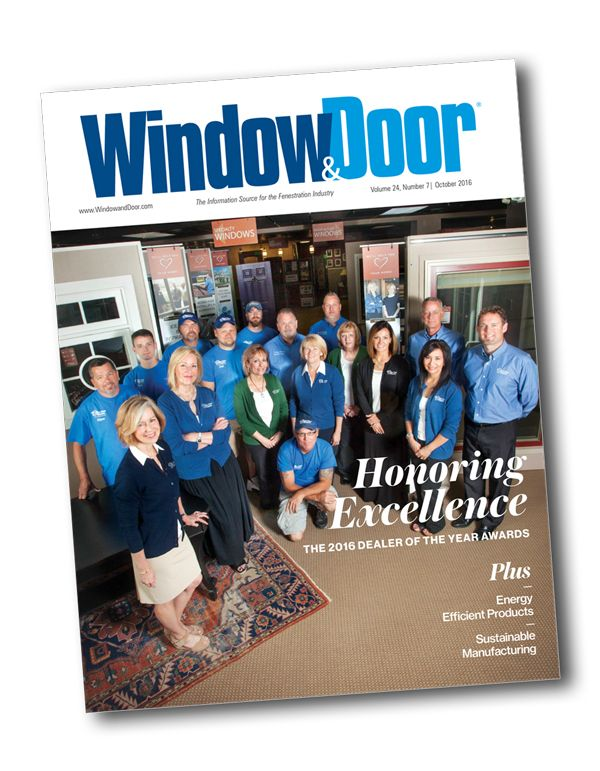 We Are Proud And Honored To Announce That We Have Been Named Window And Door  Magazine 2016 Dealer Of The Year In The Overall Excellence, Leadership In  The