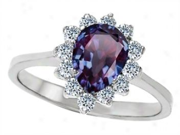Alexandrite Engagement Ring   It Is So Beautiful! It Goes From A Deep  Purple To