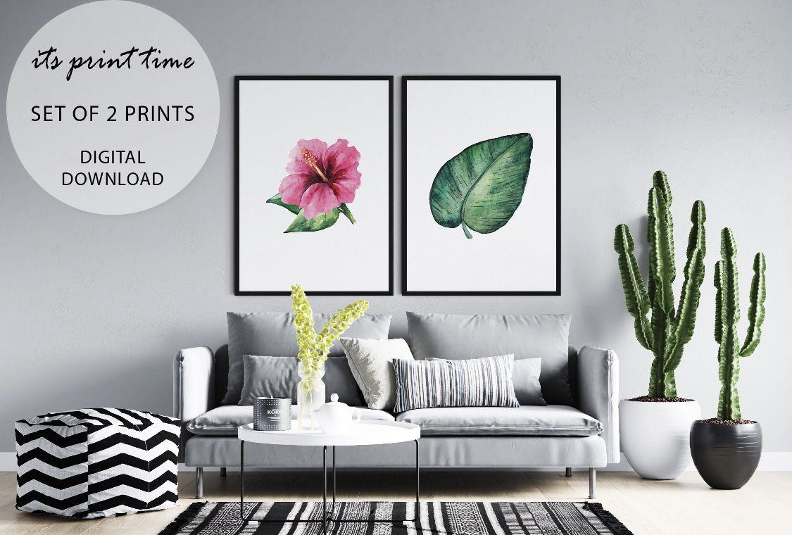 #monstrealeaf and #hibiscus #art #printable #tropicaldecor #tropicalart #poster #wallart #walldecor #roomdecorideas #decorinspiration