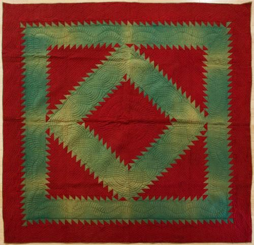 Lancaster County Amish Diamond Quilt with beautiful quilting ... : amish diamond quilt pattern - Adamdwight.com