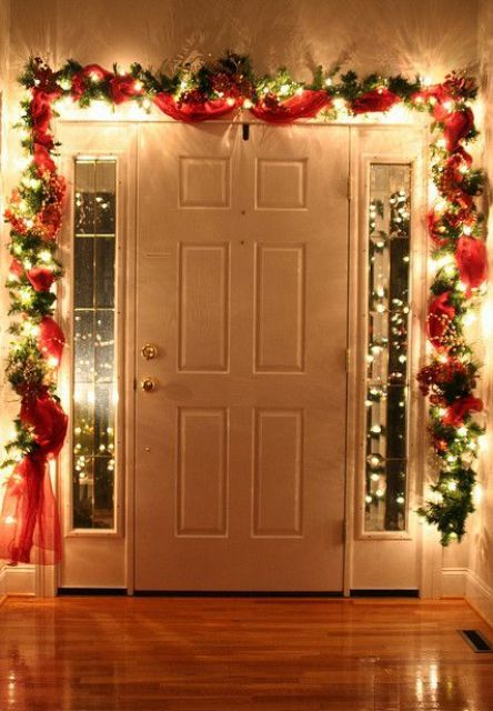 very festive and lovely christmas indoor decoration lights very homey we are so in love with its simplicity
