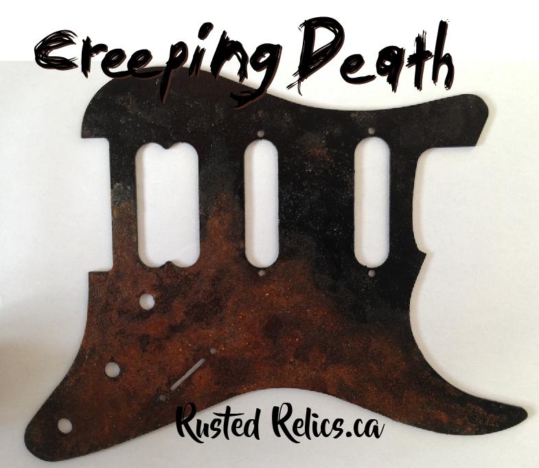 rusted metal pickguard, lefty pickguards for guitarists ...