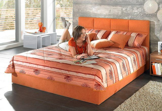 Photo of Upholstered bed, with bed box